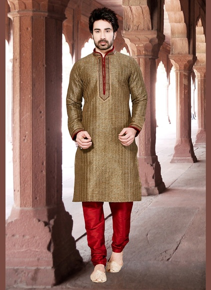 Brown Color Enrich Kurta Payjama