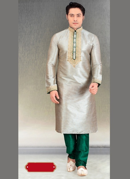 Trendy Grey Color Kurta Payjama