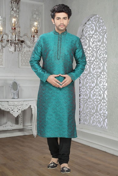 Blue Color Exquisite Kurta Payjama