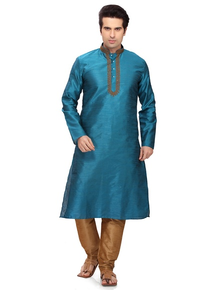 Rich Look Blue Color Kurta Payjama
