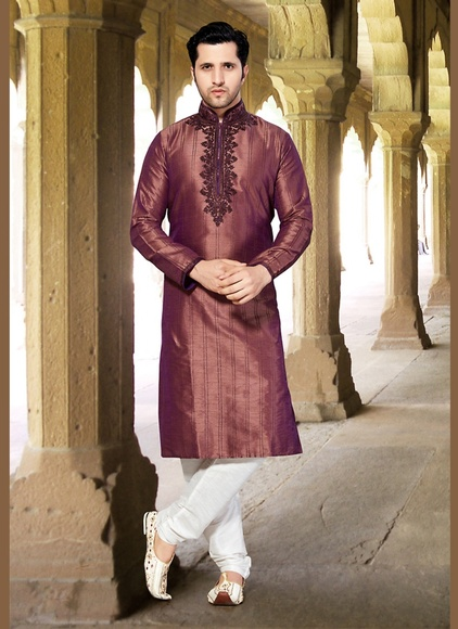 Mesmerizing Brown Unique Kurta Payjama