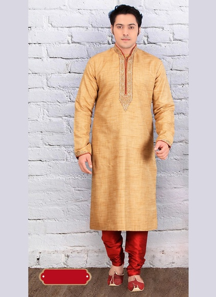Brown Color Unique Design Kurta Payjama