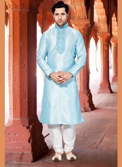 Blue Wedding Kurta Payjama