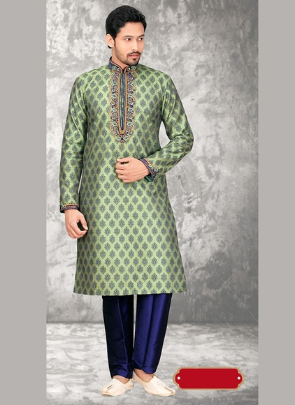 Fantastic Green Color Kurta Payjama
