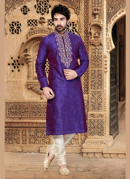 Purple Ethnic Kurta Payjama