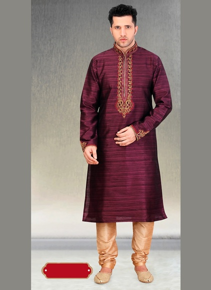 Wine Color Royal Look Kurta Payjama