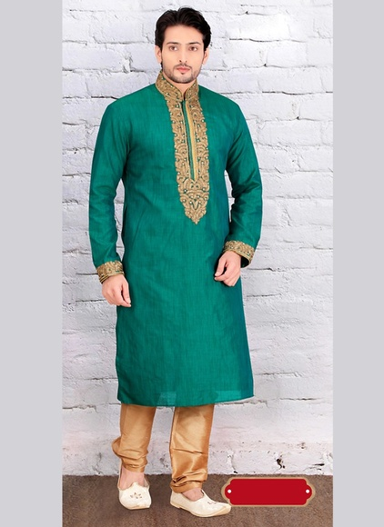 Handsome Green Color Kurta Payjama