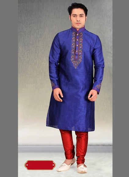 Smart Look Blue Color Kurta Payjama