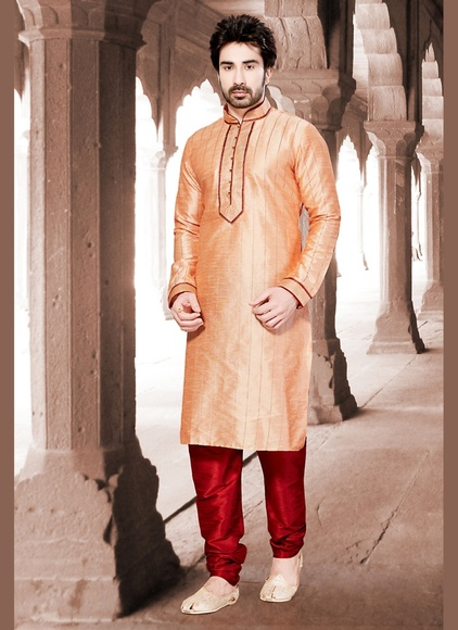Enticing Orange Kurta Payjama