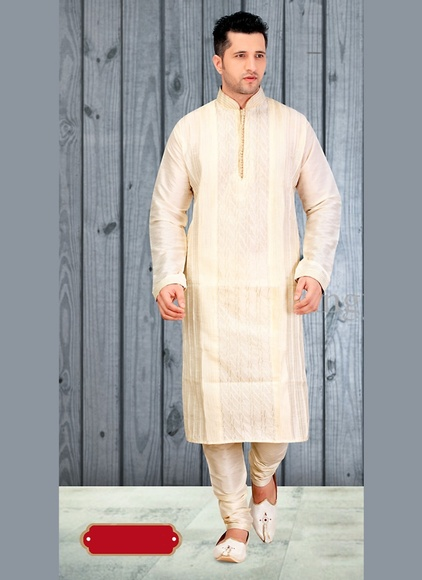 Cream Color Pleasant Kurta Payjama