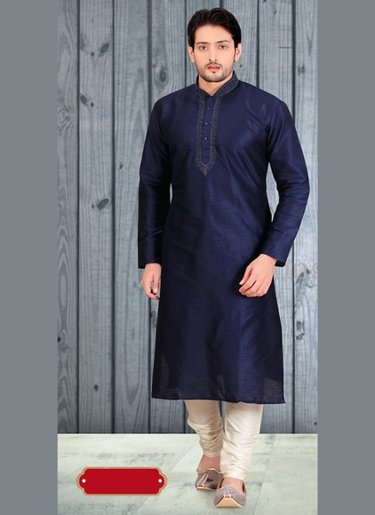 Glory Blue Color Designer Kurta Payjama