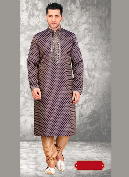 Brown Color Exquisite Kurta Payjama