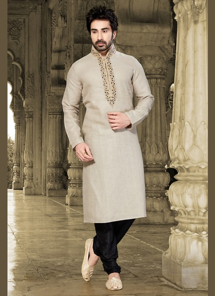 Contemporary Grey Hue Kurta Payjama