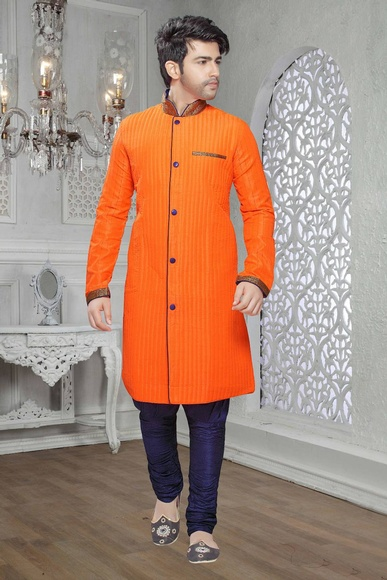 Orange Color Dazzing Kurta Payjama
