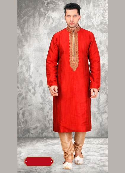 Ravishing Red Color Kurta Payjama