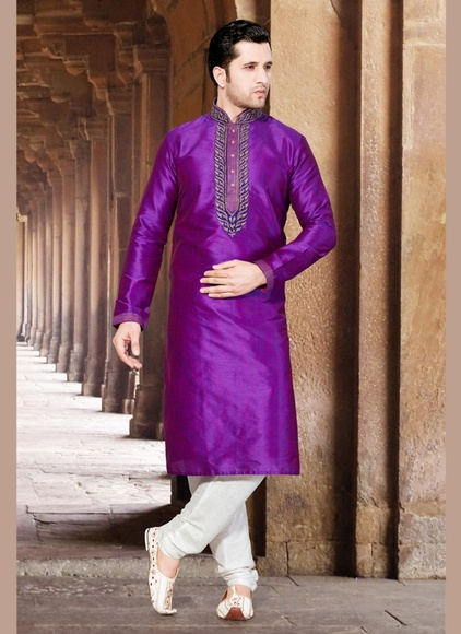 Purple Trendy Kurta Payjama