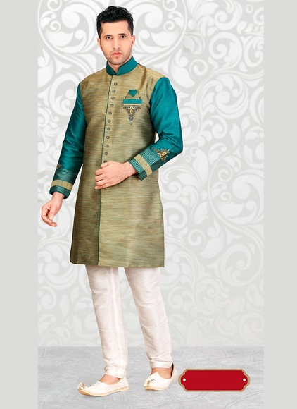 Brown Color Elegant Look Indo Western Sherwani