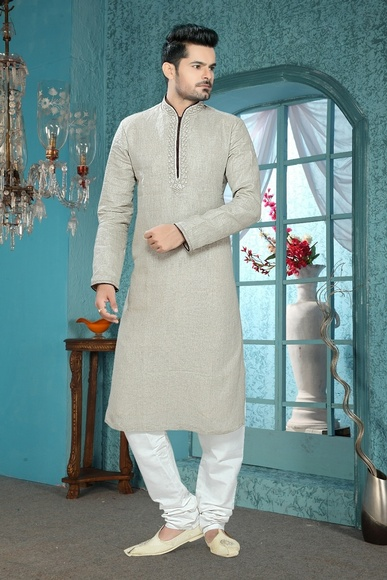 Grey Color Royal Kurta Payjama
