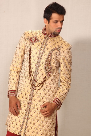 Royal Golden Sherwani BL2008