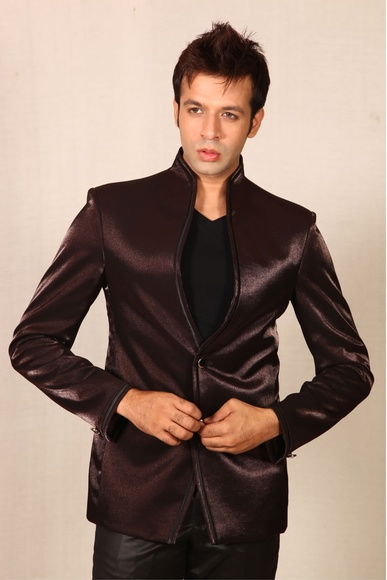 Grandeur Wine Colored Blazer BL5007
