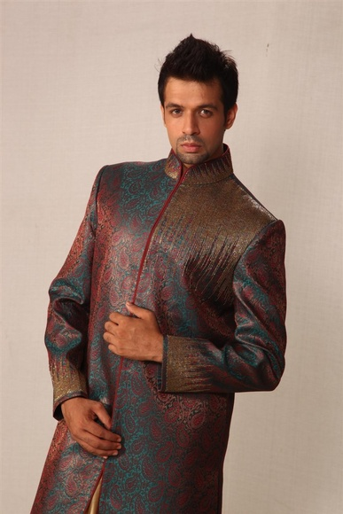 Smart Rama Green Indowestern Sherwani BL1011