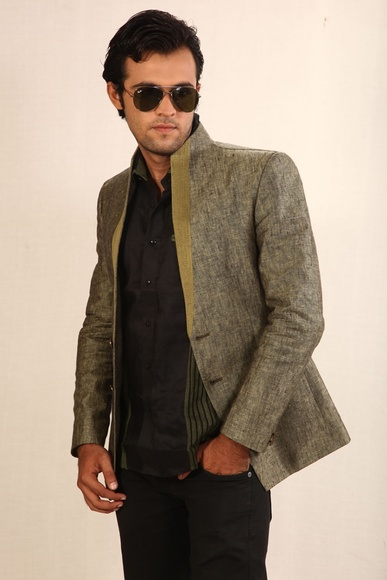 Contemporary Light Green Blazer BL5004