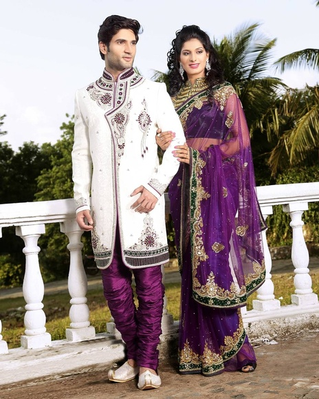 Modern Look White Color Royal Sherwani For Wedding