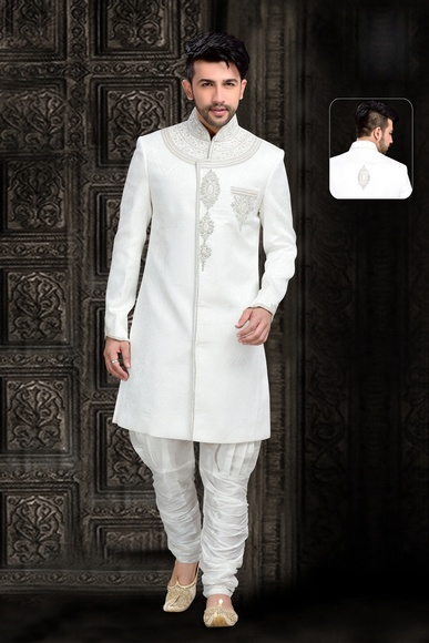 Mens Tantalizing Chinese Collar Royal Sherwani