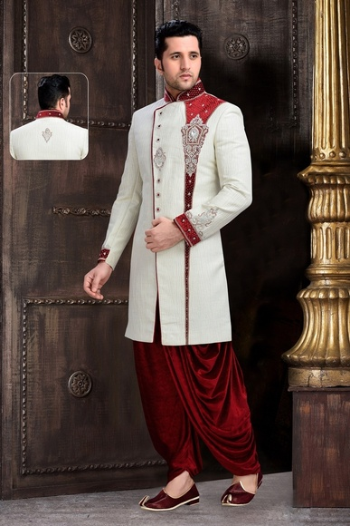 Voguish White Color Royal Sherwani For Wedding