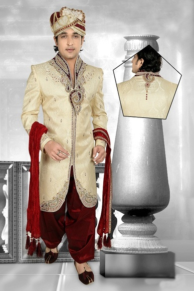 Two Tone Brown Color Royal Sherwani