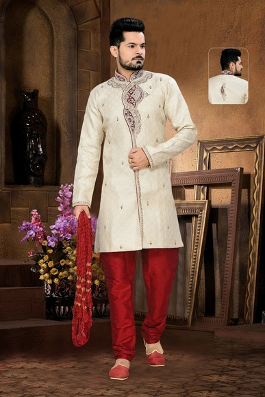 Fancybeige Royal Sherwani For Wedding