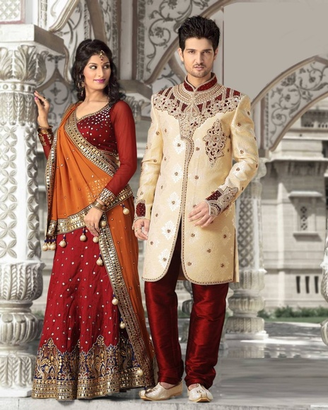 Outstanding Look Cream Color Royal Sherwani For Men