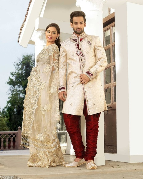 Enhance Your Lookbeige Color Royal Sherwani For Men