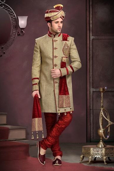 Brown Attractive Look Royal Sherwani