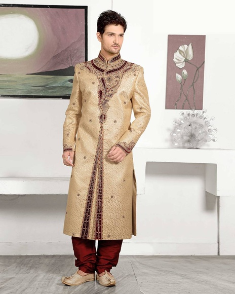 Serenecream Color Royal Sherwani