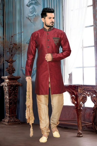 Royal And Rich Look Mensviolet Royal Sherwani