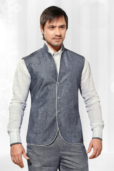 Grey Color Glamourous Nehru Jacket