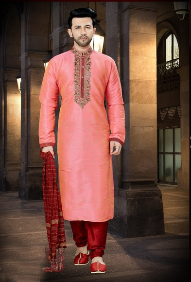 Online Wedding Collection Maroon Mens Kurta