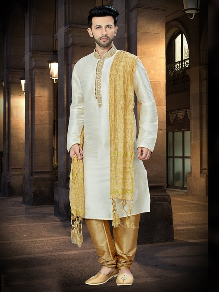 Flamboyant Online Lemon Kurta For Men