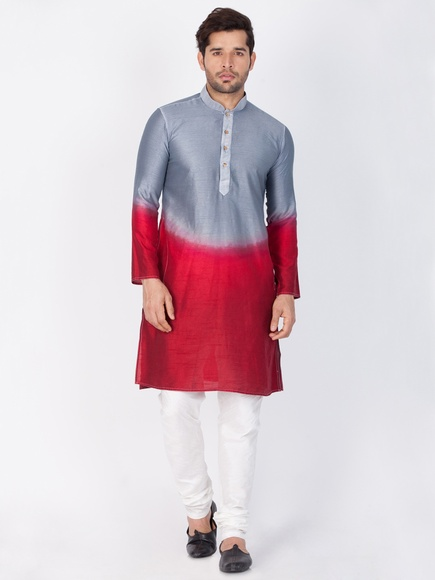 Men Wedding Grey Kurta Payjama