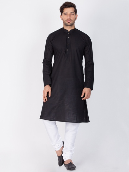 Online Trendy Look Black Kurta Payjama