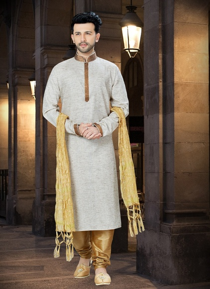 Festive Collection Khadi Kurta For Men