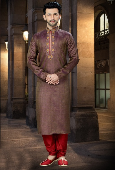 New Arrival Trendy Wine Kurta For Men Online