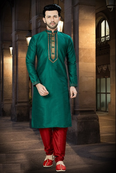 Online Green Kurta For Men