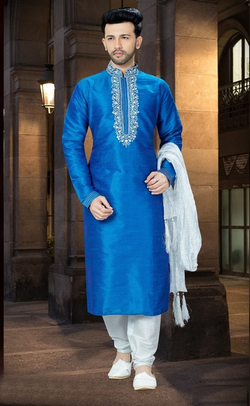 Online Silk Chudidar Kurta Payjama For Men