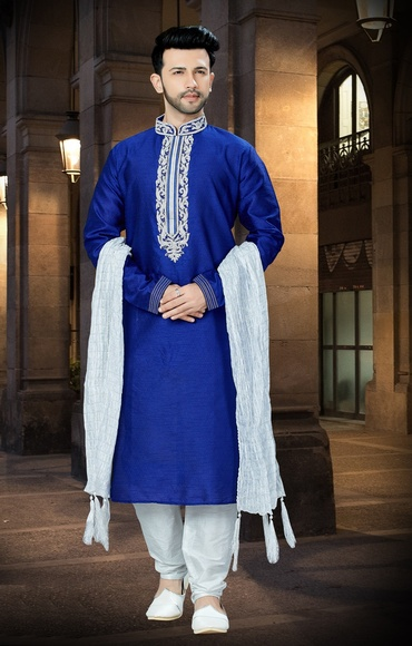 Superb Princy Look Blue Chudidar Kurta