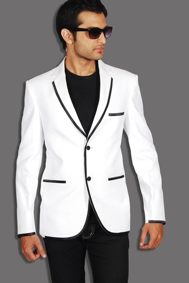 Exotic White Blazer BL5021