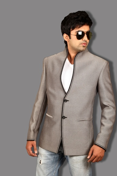 Exquisite Cool Grey Blazer BL5035