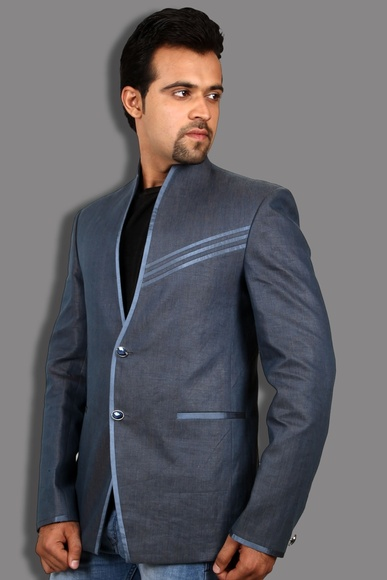 Royal Blue Linen Blazer BL5030