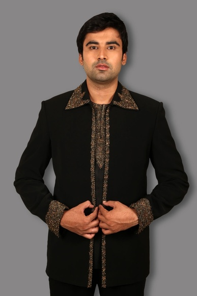 Marvelous Black Jodhpuri Suit BL3060